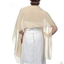 Cause-chal y envolturas de gasa para mujer, chal de 200x45cm para vestido de boda, bufanda larga, Bolero de novia, fiesta de noche