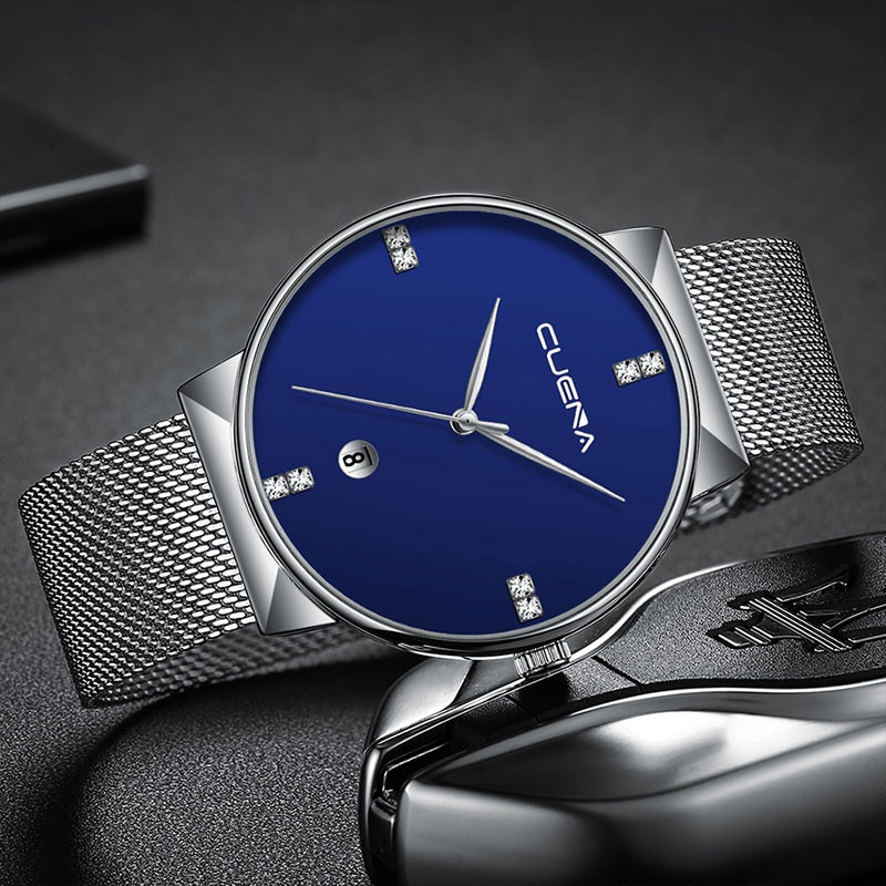 Luxury Ultra Thin Clock Male Steel Strap Casual Quartz Watch Men's Wrist Watch Zegarek Meski Clock Gift for Men new men watches top brand luxury 50m waterproof ultra thin date clock male steel strap casual quartz watch men wrist sport watch