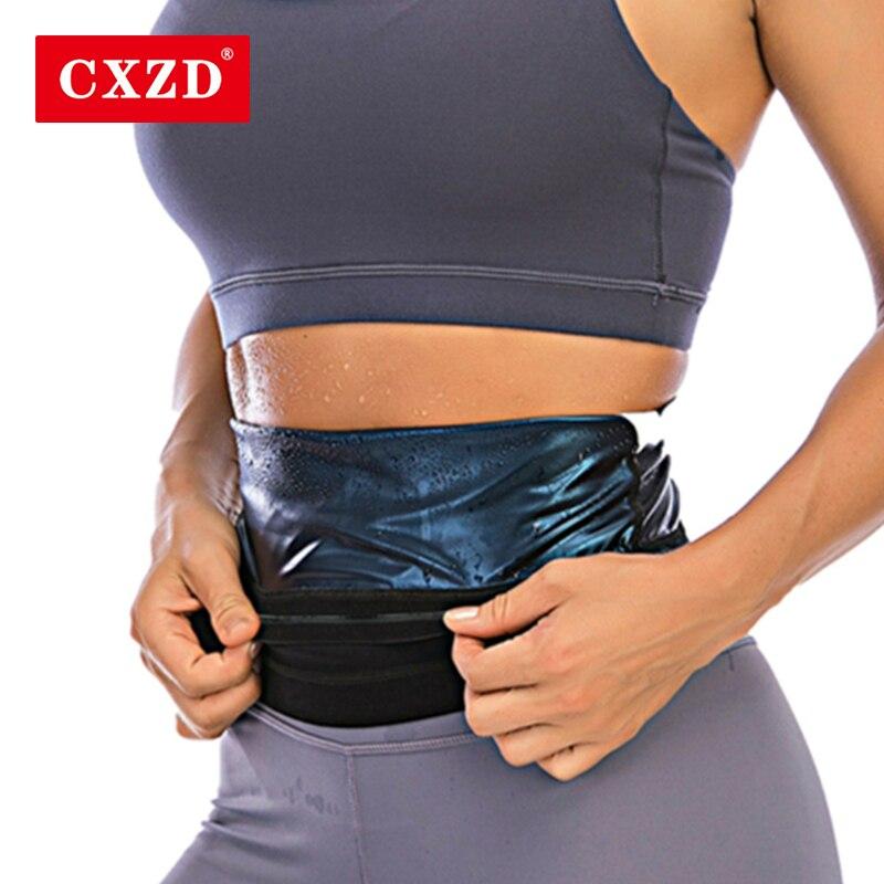 Cxzd 2021 novo cinto de emagrecimento barriga shaper corpo feminino abdômen queima de gordura shapewear cintura treino suor ginásio fitness