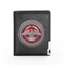 높은 품질 로마 제국 SPQR 인쇄 남자 지갑 가죽 지갑 남자 신용 카드 홀더 짧은 남성 슬림 동전 돈 가방