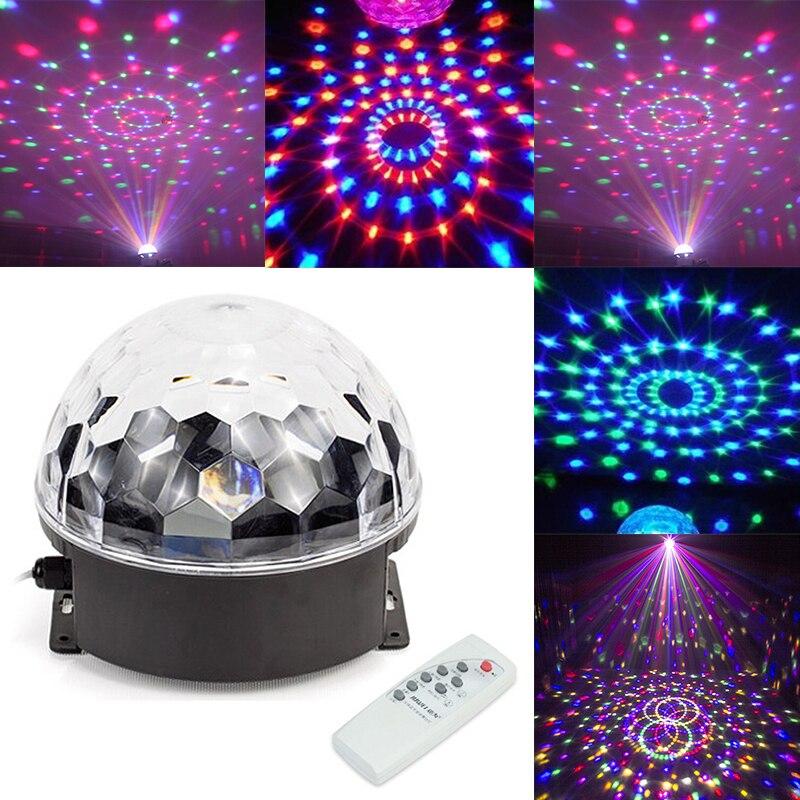 6 цветов Bluetooth-совместимый MP3 светодиодный диско-шар освесветильник вечерние сценическая лампа DJ Проектор Лазерная музыка воспроизведение диско-лампа