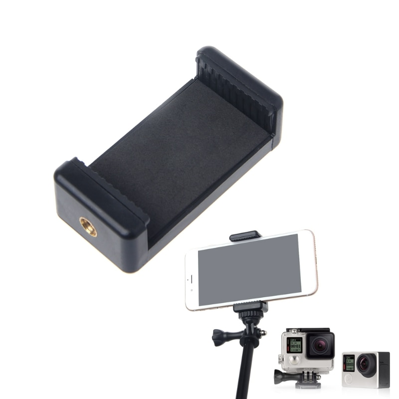 Durable Phone Clip Bracket Holder Mount For Selfie Stick Tripod Monopod Stand