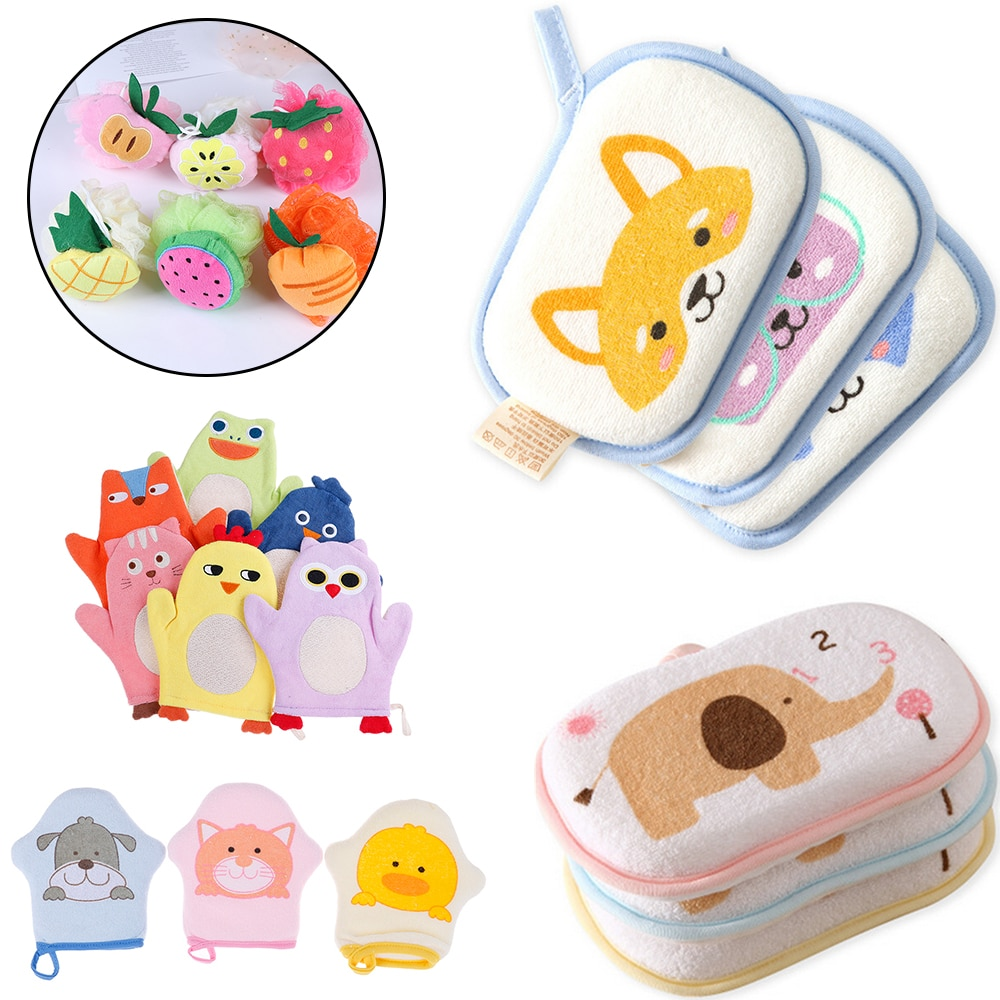 Bath Brushes Shower Products Comfortable Soft Towel Accessories Infant Children Rub baby Rubbing Bod