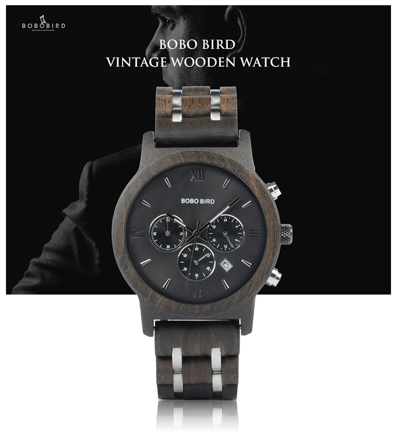 BOBO oiseau femmes montres en bois Quartz dames montre-bracelet chronomètre reloj mujer zegarek damski dans une boîte en bois