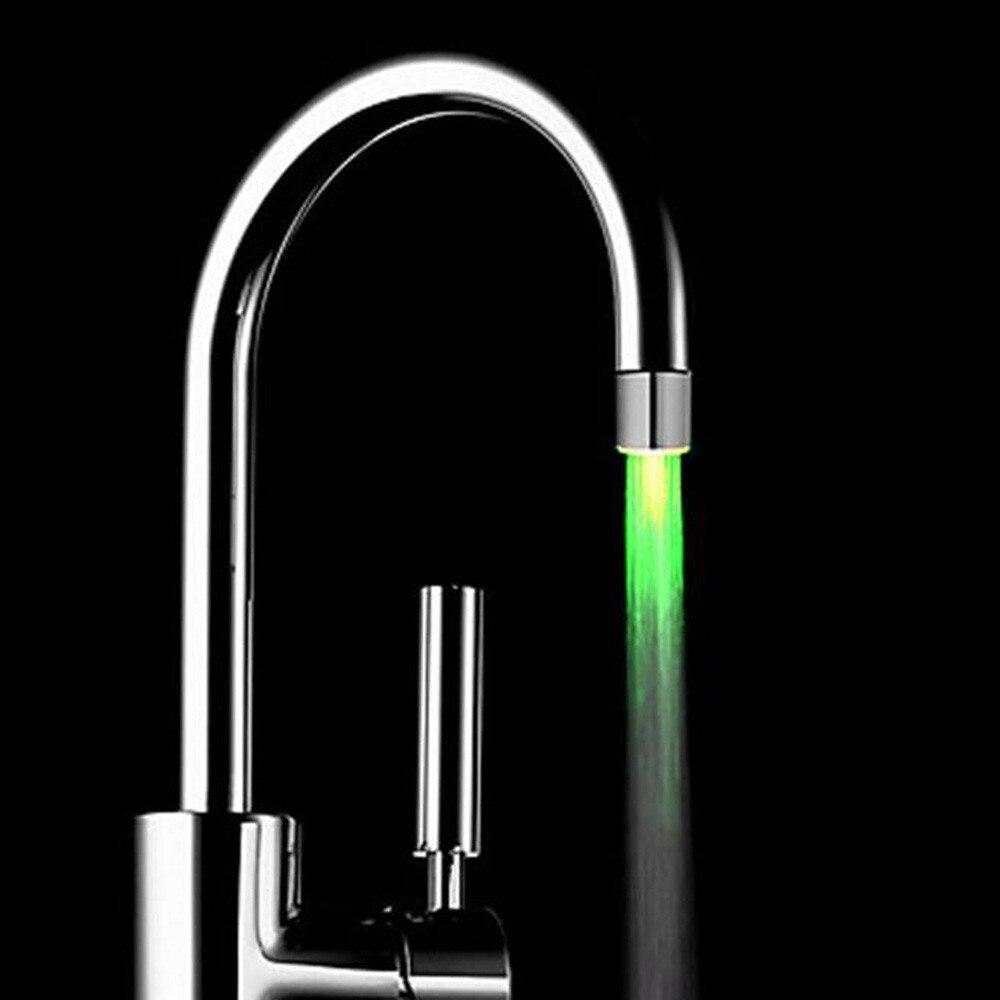1 Uds cocina creativa Baño Luz LED grifo cambiante colorido boquilla de brillo cabezal de ducha filtro de agua para grifo sin batería