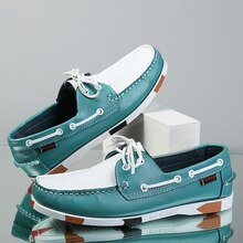 Big Size Shoes Loafers Men Genuine Leather Driving Shoes Retro Fashion Docksides Boat Shoes Classic
