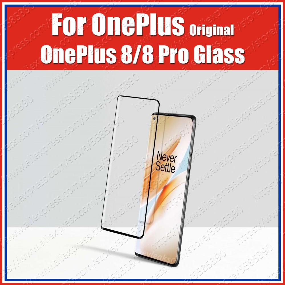 Oleophobic de 9H oficial 100% Original y genuino Oneplus 8 Pro 3D Protector de pantalla de vidrio templado