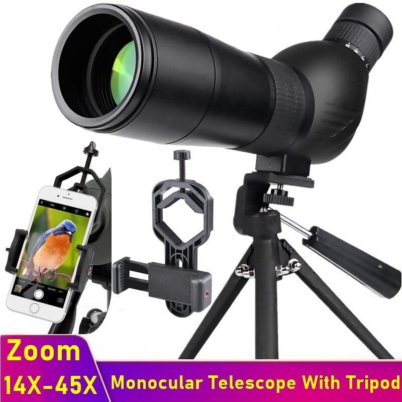 Tongdaytech HD Monocular Telescope 15-45X Zoom Phone Camera Lens Spotting Scope With Tripod For Iphone Xiaomi Watching Moon Bird