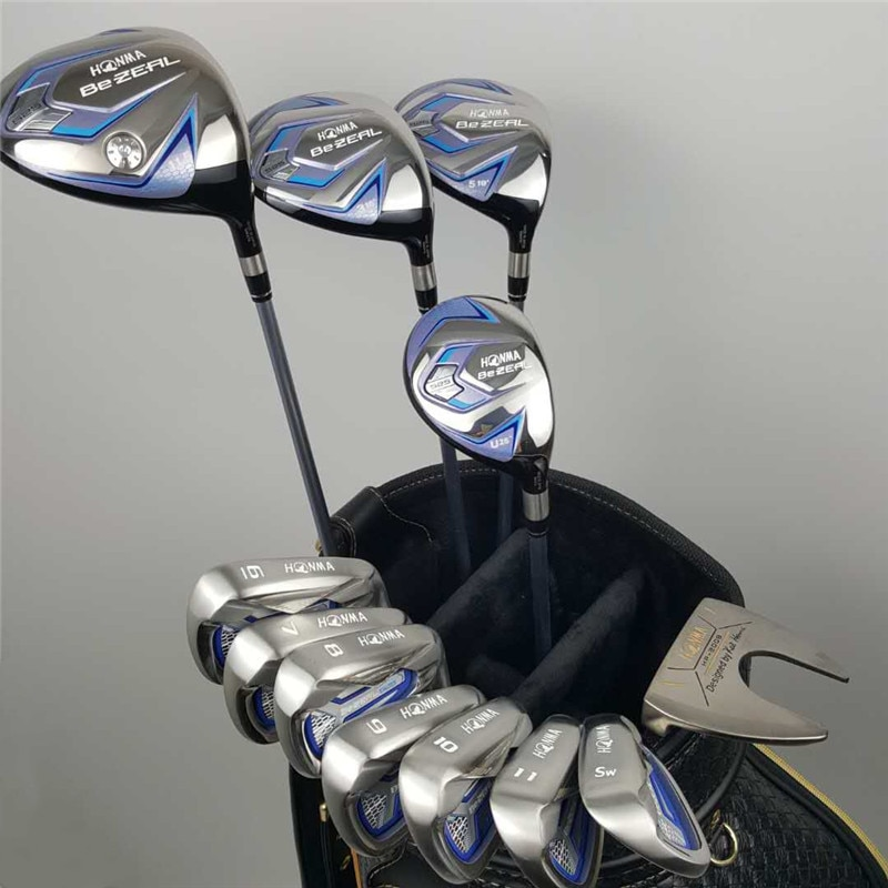 New Women's HONMA Golf Club HONMA BEZEAL 525 Golf Complete Set with wood putter Head Cover (No Bag) Free Shipping