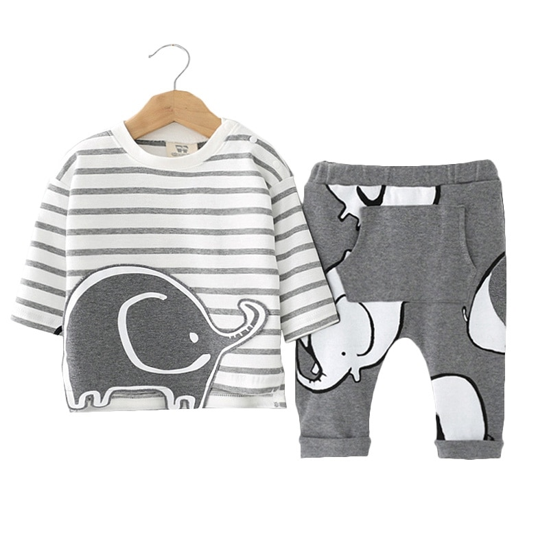 Модный брендовый комбинезон, Roupas De Bebes, боди + шапка + штаны, комплект одежды из 3 предметов для маленьких мальчиков, милая Одежда для новорожденных с животными