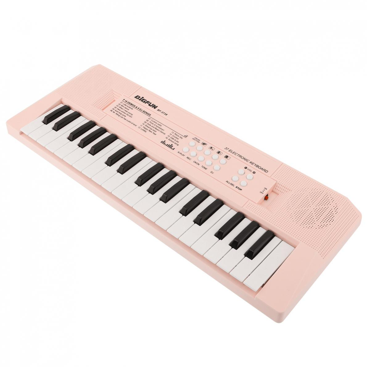 37 Keys Electronic Keyboard Piano Digital Music Key Board Children Gift Musical Enlightenment Blue and Pink Optional enlarge