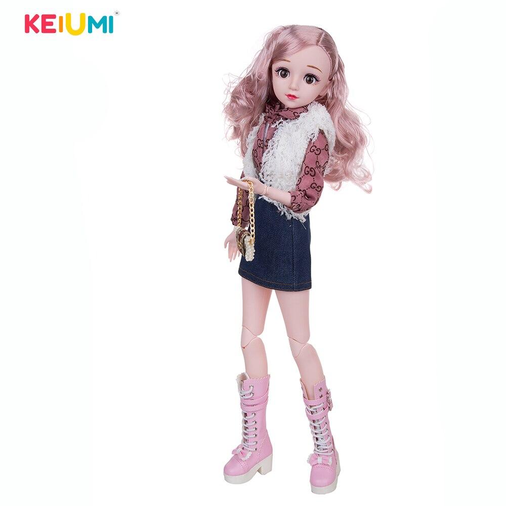 1/3 bonecas bjd 60cm lifelike moda menina bonecas grande original artesanal conjunto completo roupas sapatos peruca maquiagem bola-articulado boneca criança