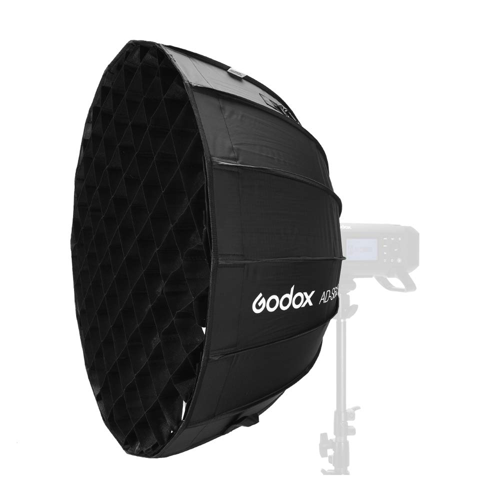 Godox AD-S65S ADS65S 65cm construido-en plata profundo Softbox parabólico con panal red Godox montaje softbox para AD400PRO flash