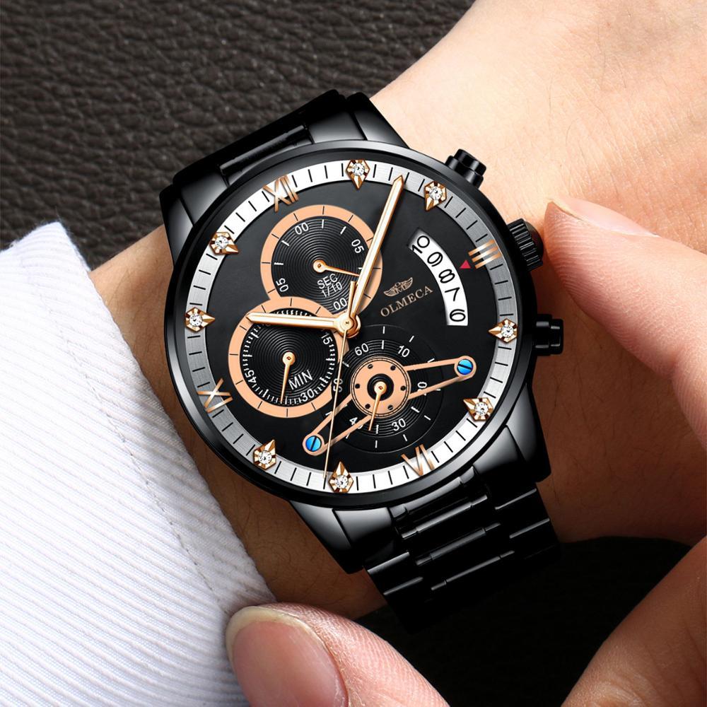 Кварцевые часы наручные часы производители Для мужчин оптовая торговля детской одежды Водонепроницаемый Для мужчин нержавеющая сталь спо...