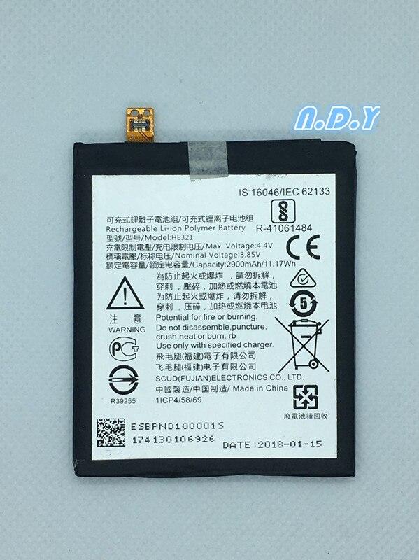 Original  HE321 2900mAh Battery For Nokia 5 nokia5 Dual SIM (TA-1053 DS)   N5   Batteries Bateria