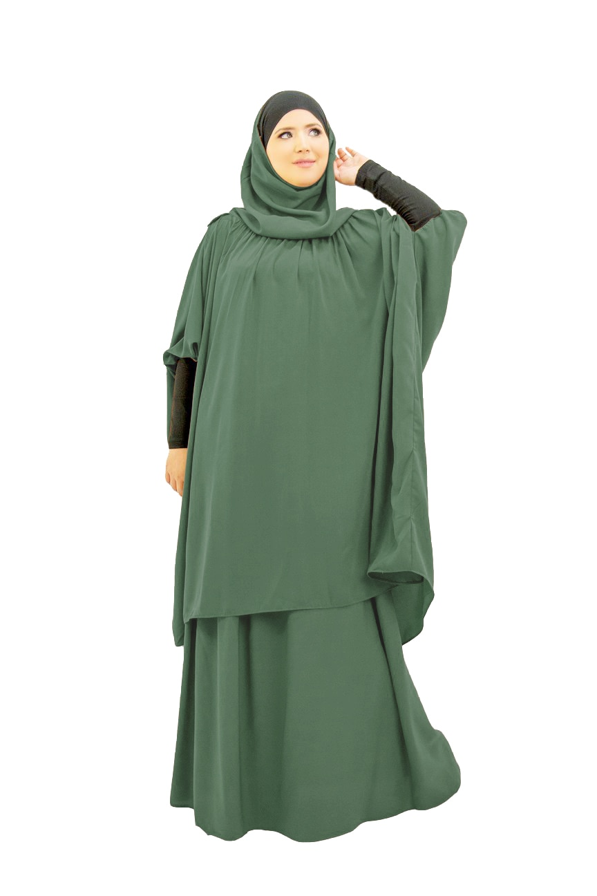 لباس صلاة إسلامي للنساء ، لباس رمضان ، لباس صلاة إسلامي ، طقم ملابس إسلامية ، تركيا نماز ، خمار طويل ، مسلمة جوكين ، كيمونو عباية