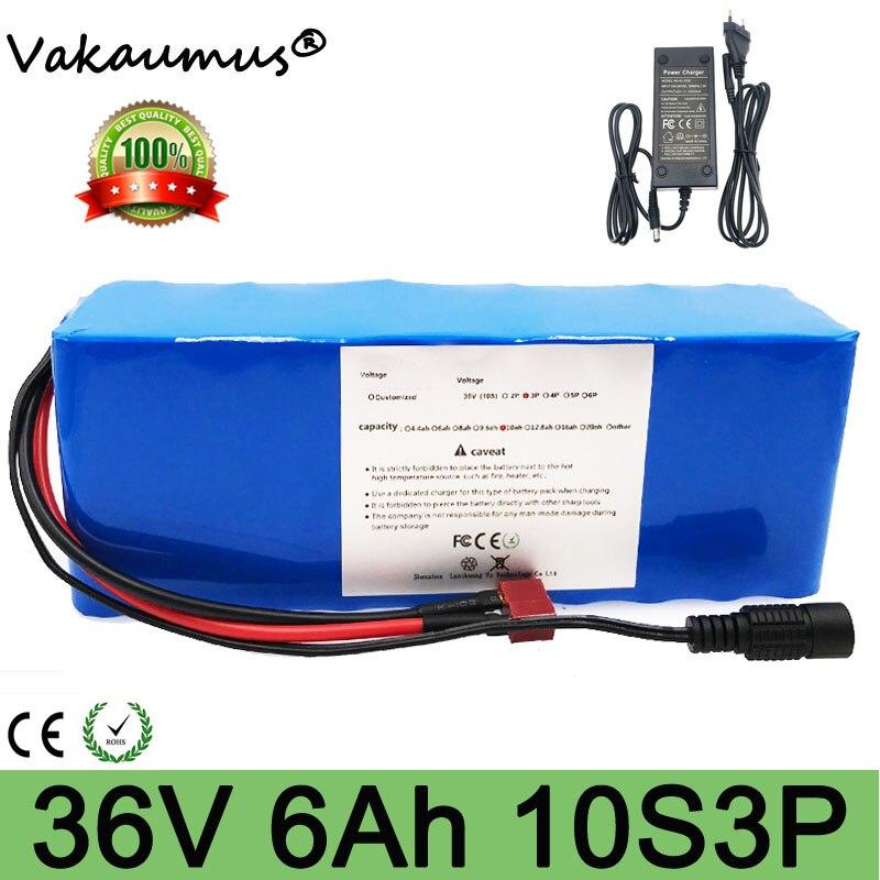 Bateria 36v 6ah bms 10s 3p akumulator 36v batería de litio para Ebike motocicleta coche eléctrico bicicleta Scooter BMS + cargador de 42v