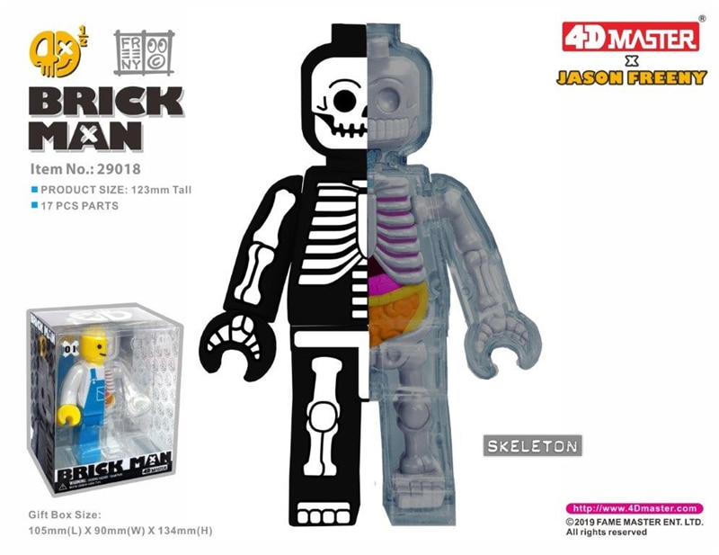 Genuine 4D master puzzle assembly toy MASTER artist Mighty Jaxx brick man mummy black and white skeleton