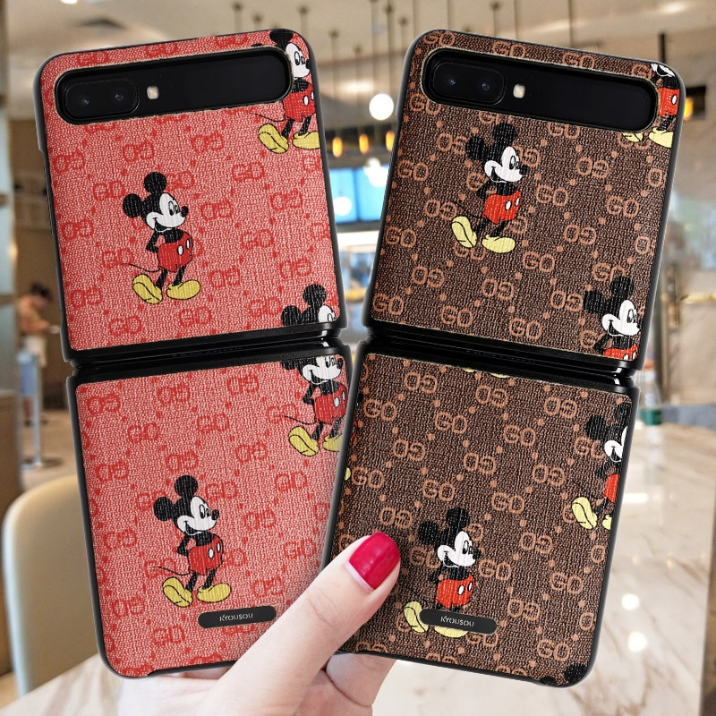 Disney certification for Samsung Galaxy Z Flip phone case zflip protective leather case