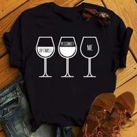 maycaur cute goblet wine print t shirt women casual short sleeve o neck loose tshirt summer women tee shirt tops camisetas mujer