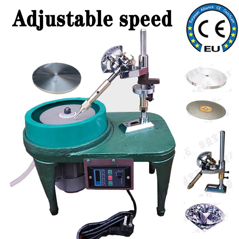 آلة ضبط السرعة جوهرة الأوجه 6 بوصة اليشم تلميع ماكينة الطحن المسطح مجوهرات اليشم حجر زاوية آلة YY(BD)6312
