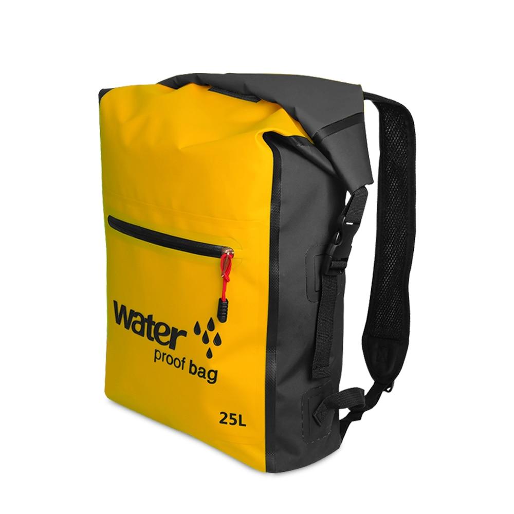 Bolsa seca impermeable de 25 L, mochila flotante de Trekking por río, bolsas de natación para deportes al aire libre, para kayak, Rafting, canotaje