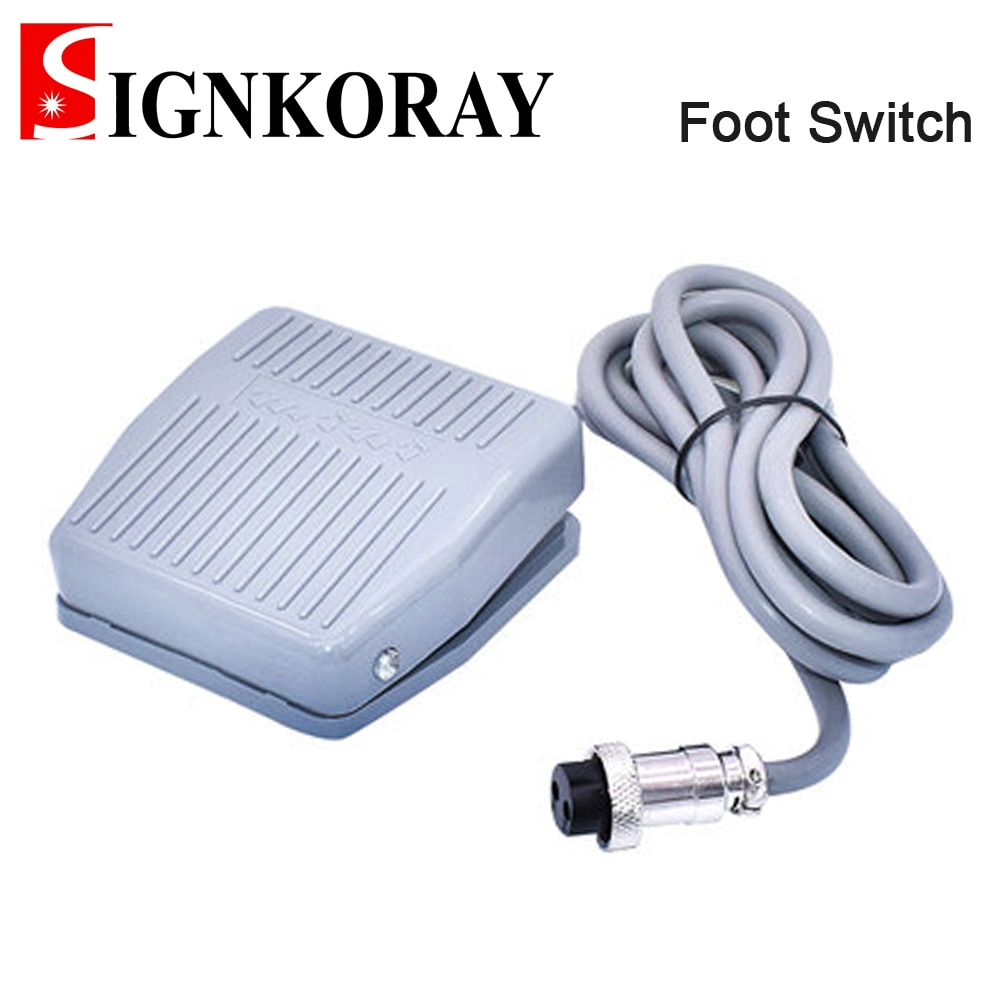 signkoray footswitch foot momentary control switch electric power pedal for laser marking machine SIGNKORAY Footswitch Foot Momentary Control Switch Electric Power Pedal for Laser Marking Machine