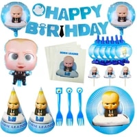 born leader boss baby kids birthday decorations disposable tableware paper plates cups napkins party supplies baby shower