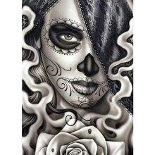 5D DIY 다이아몬드 그림 죽은 자의 날 설탕 두개골 소녀 모자이크 크로스 스티치 전체 스퀘어 다이아몬드 페인팅 키트 홈 장식