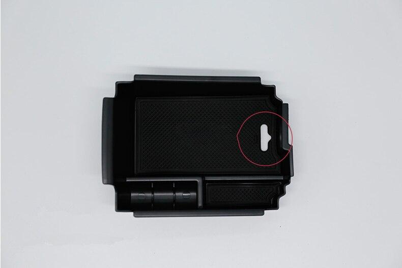 Consola compartimento de almacenamiento de apoyabrazos central contenedor bandeja para Infiniti QX30...