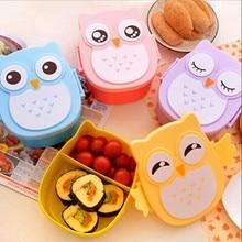Mignon facile à ouvrir hibou conception boîte à déjeuner Kawaii japonais récipient de nourriture vaisselle bento boîte pour enfant cadeau danniversaire pour enfants