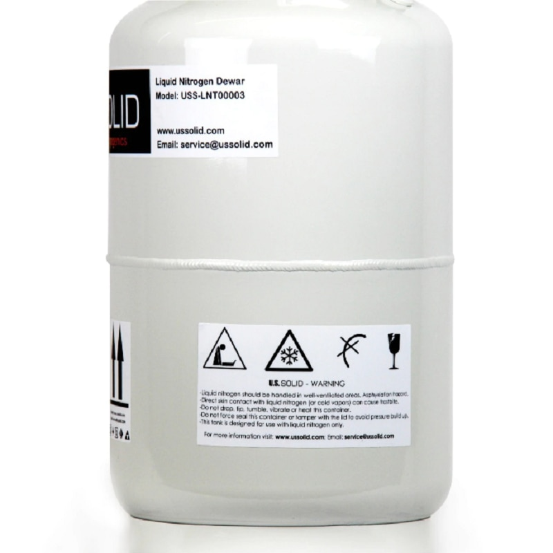 U.S. Solid 30 L Liquid Nitrogen Cattle Semen  Cryogenic LN2 Tank Dewar with 6 Canisters CE enlarge