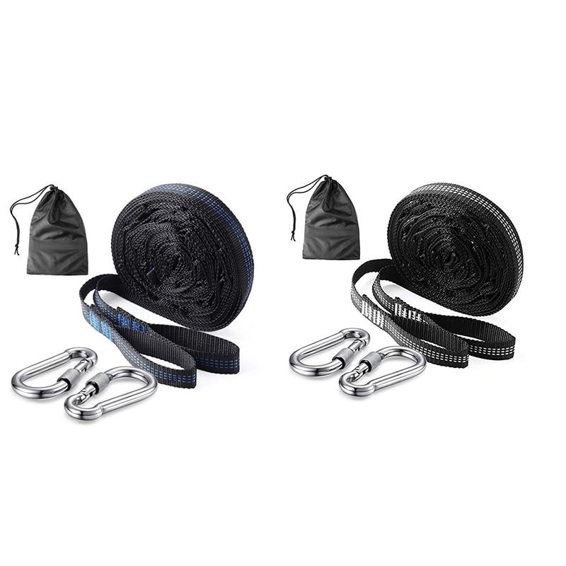 Adjustable Hammock Straps with Buckle Loops Outdoor Tree Hanging Aerial Yoga Hammock Strap Rope Belt