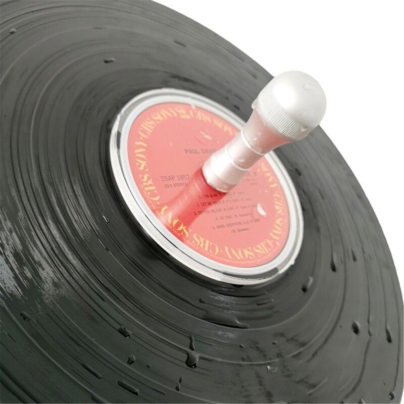 LP Vinyl Record Cleaner Clamp Aluminum handle Record Label Saver Protector Waterproof Acrylic Clean Tool enlarge