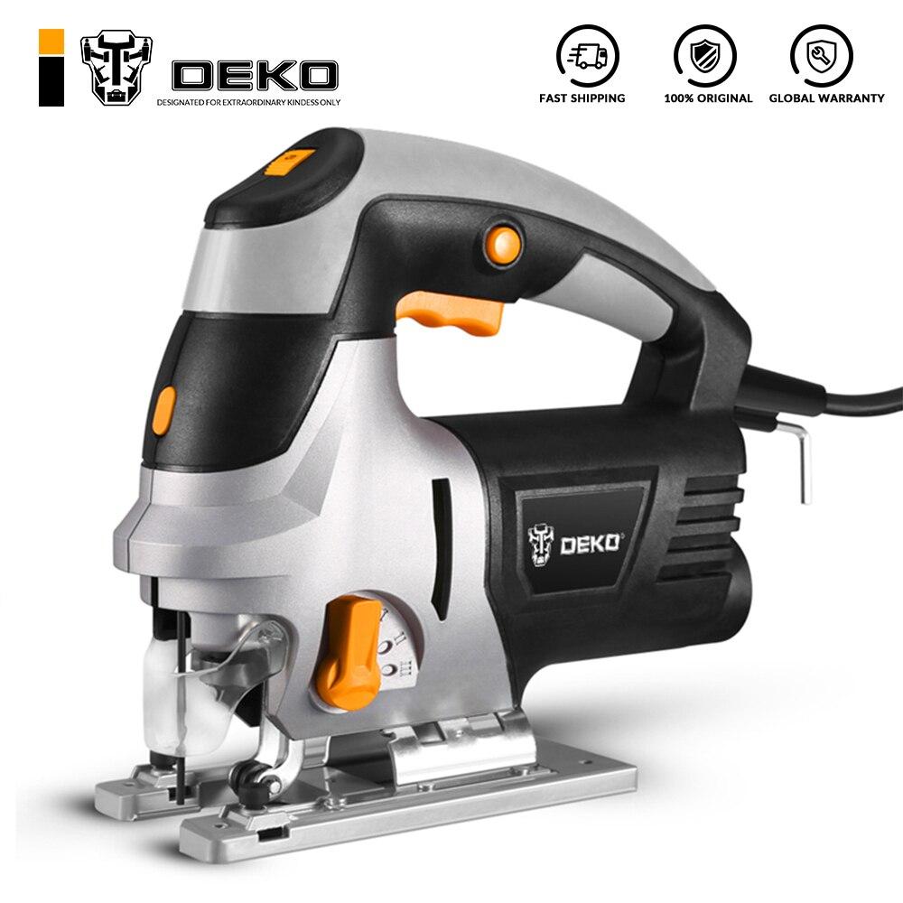 DEKO Jig Saw Electric Home Power Tools Miter Saw Machine DKJS80Q1 Laser Variable Speed with Metal Gu