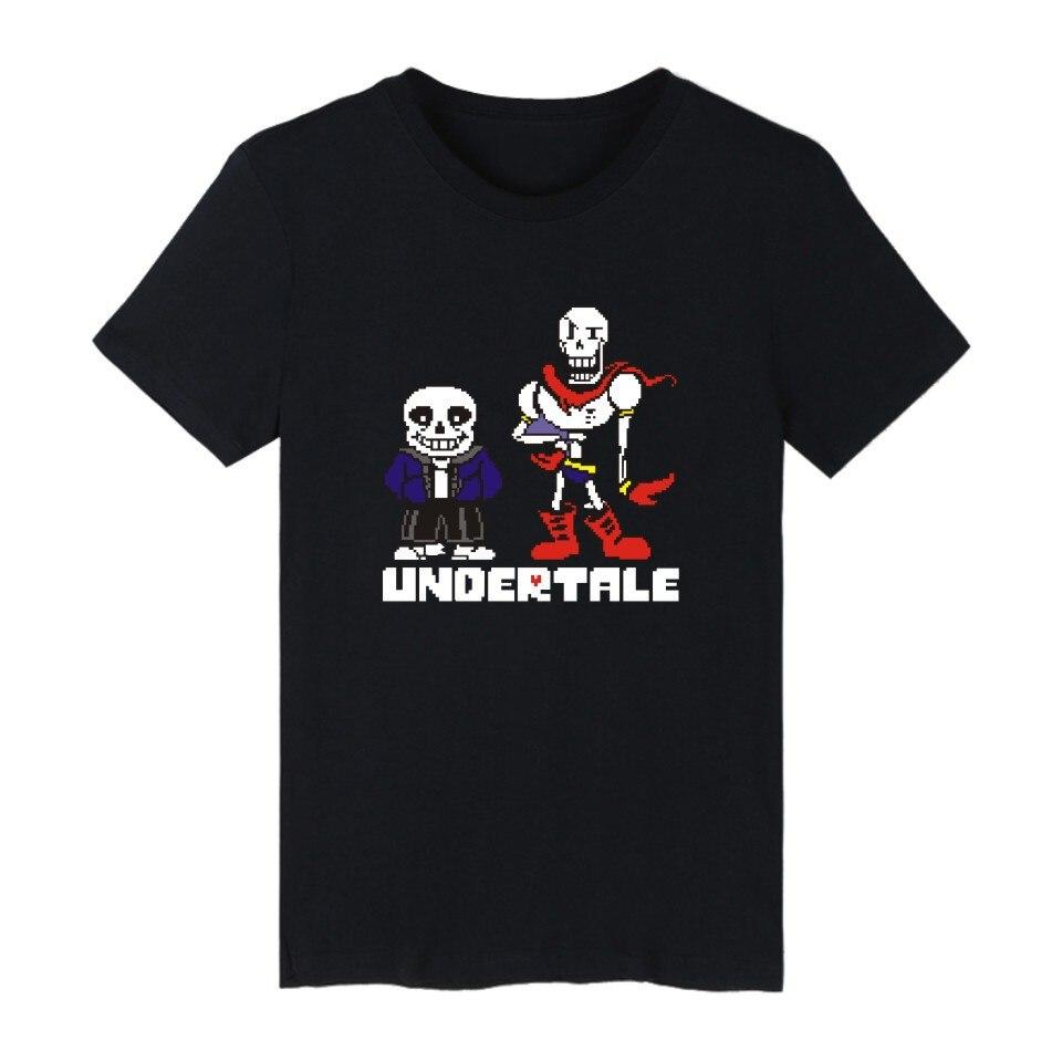 Camiseta de Sans Undertale para Hombre y mujer, ropa informal de algodón...