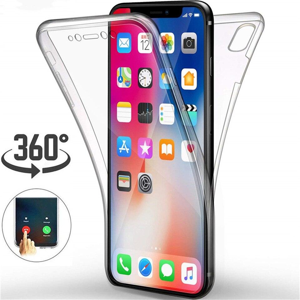 360 funda transparente completa para Samsung Galaxy A51 A71 S7 S6 Edge S8 S9 S10 Plus Note 8 9 10 Pro suave funda de silicona para teléfono móvil Coque