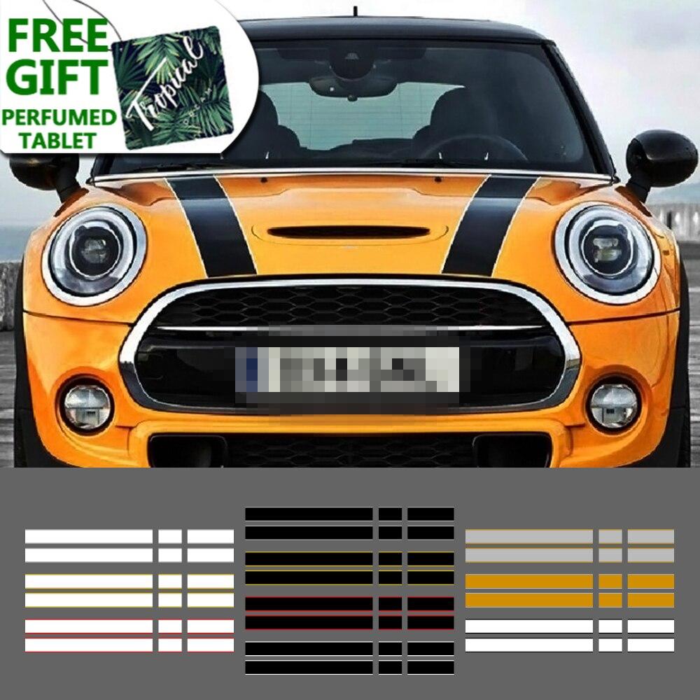 Car Engine Hood Rear Trunk Stripe Sticker Vinyl Decals For Mini Cooper One S JCW R56 R57 R58 F54 F55 F56 Hactchback Accessories