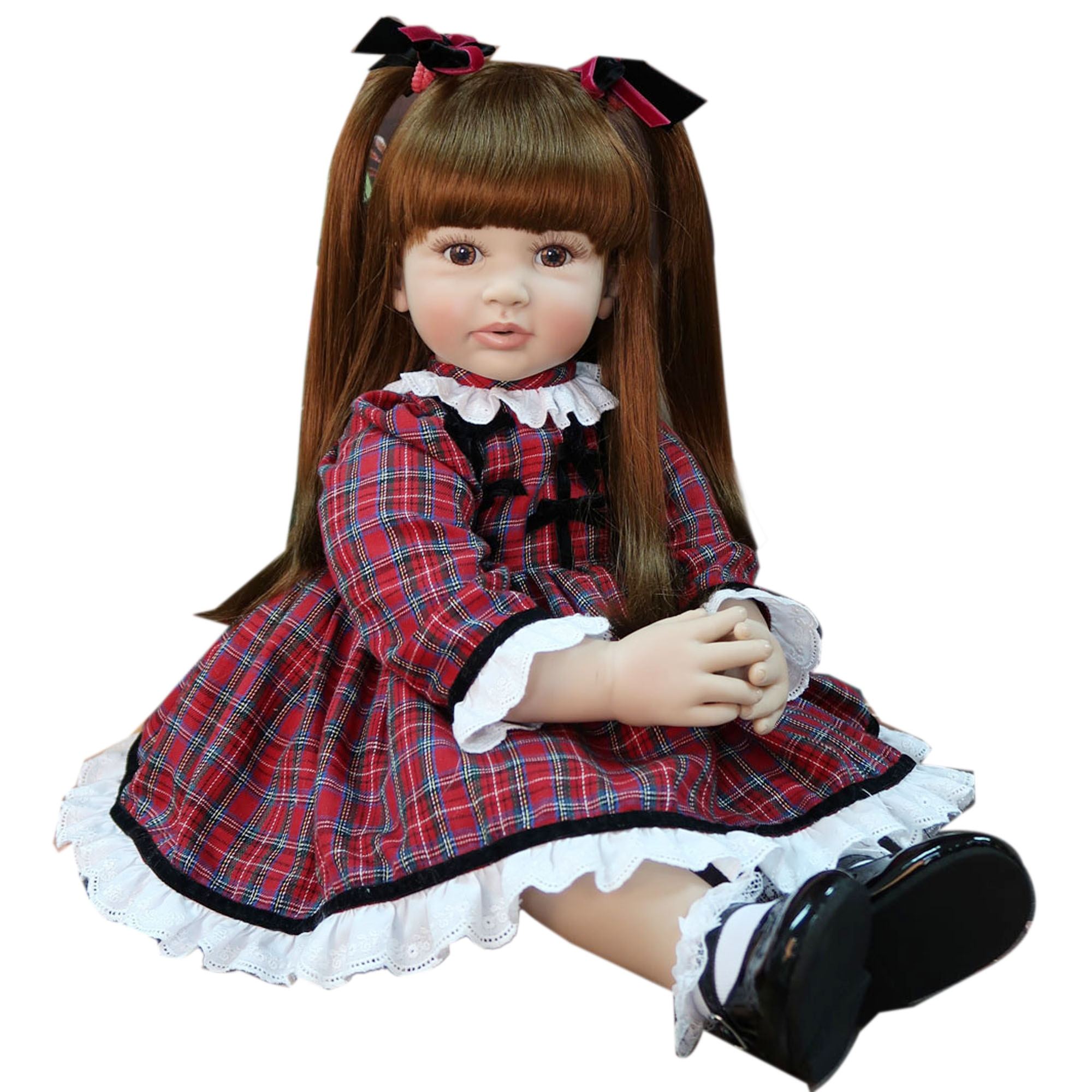 60cm Exclusive style Silicone Reborn Baby Doll Toy Vinyl Princess Toddler Babies Like Alive Bebe Girl Boneca Child Birthday Gift
