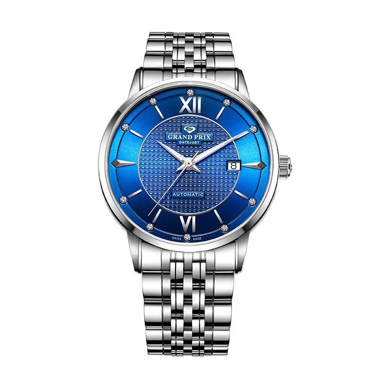 Men Mechanical Wristwatches Top Brand Luxury 2020 GATTI Waterproof Sports Watch Automatic Women Watches Blue Clock мужские часы