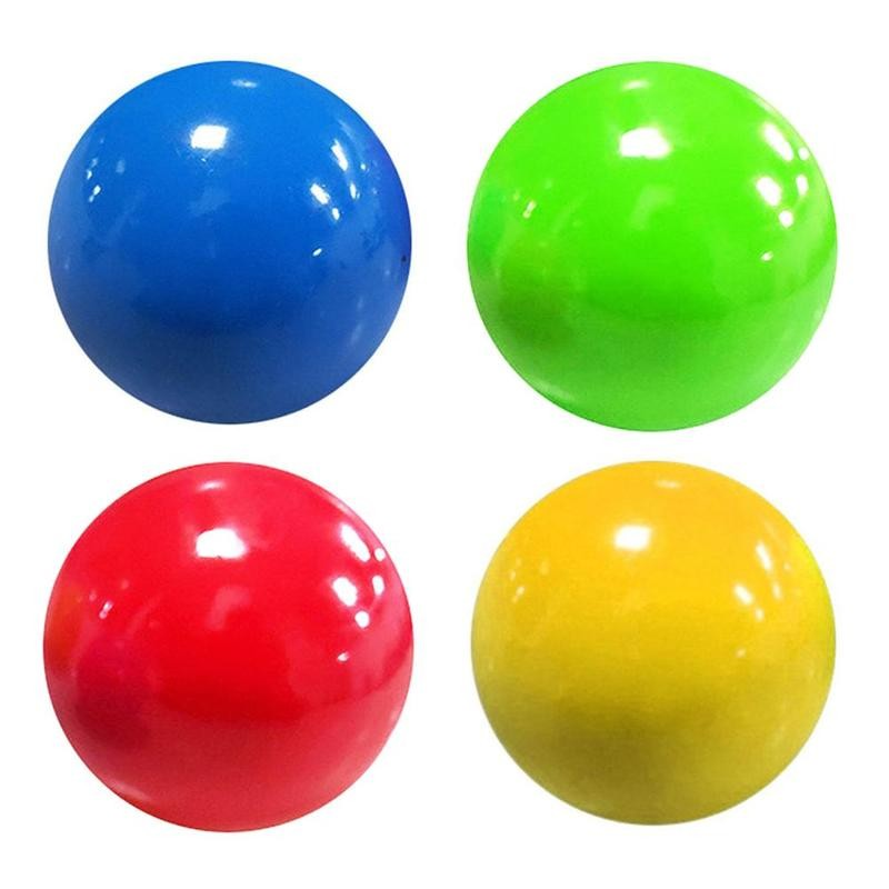 Ceiling Sticky Ball Throw At Ceiling Decompression Ball Ceiling Sticky Ball Decompression Toy Sticky Target Ball Children's Toy