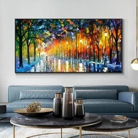 modern abstract walking down the street oil painting print on canvas nordic poster wall art picture for living room home decor