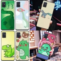 cute funny flowers couples dinosaur color painting phone case for samsung galaxy a51 5g 4g soft tpu cases carcasa coque