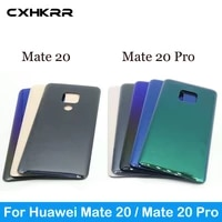cxhkrr for huawei mate 20 battery cover back glass panel rear door housing case for huawei mate 20 pro original with logo