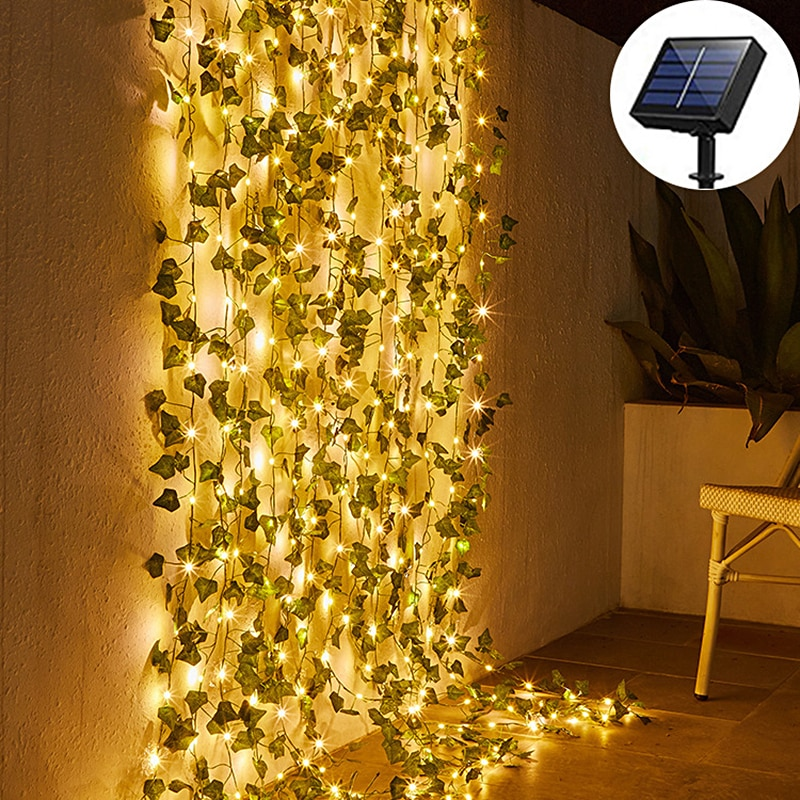 Waterproof Outdoor Solar Lamp Garden Patio Solar Powered Maple Leaf Fairy Lights Wedding Party Christmas Decoration Solar Lights