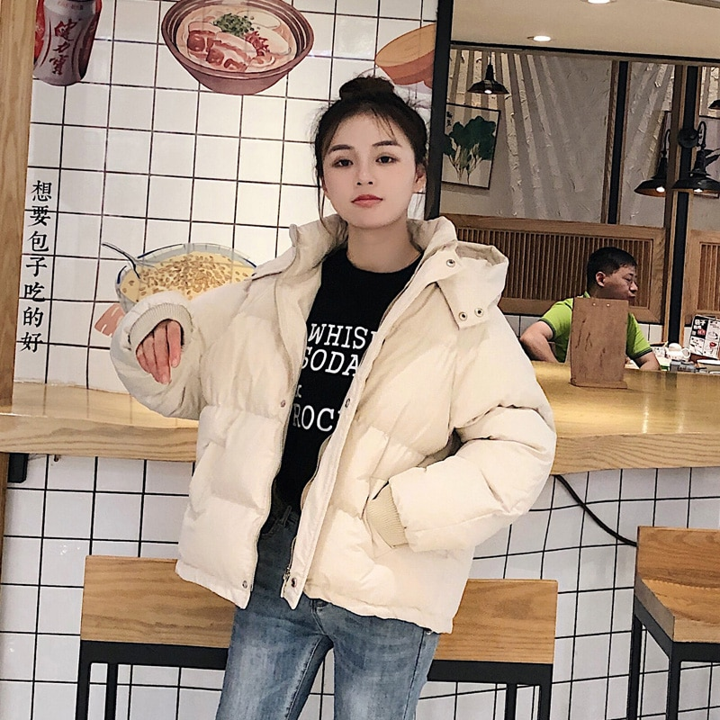 Новинка 2021, одежда с хлопковой подкладкой, Корейская версия, непромокаемая одежда для хлеба, женские зимние пальто, короткая стеганая куртк...