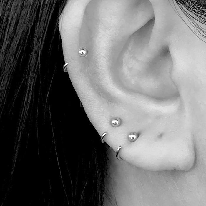 S925 sterling silver small bohimia ear bone temperament simple hypoallergenic ear ring personality earrings for women female