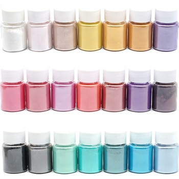21 Colors Pearl Pigment Powder Mica Pearlescent Colorants Resin Dye for Jewelry Making Art Tool Art Supplies