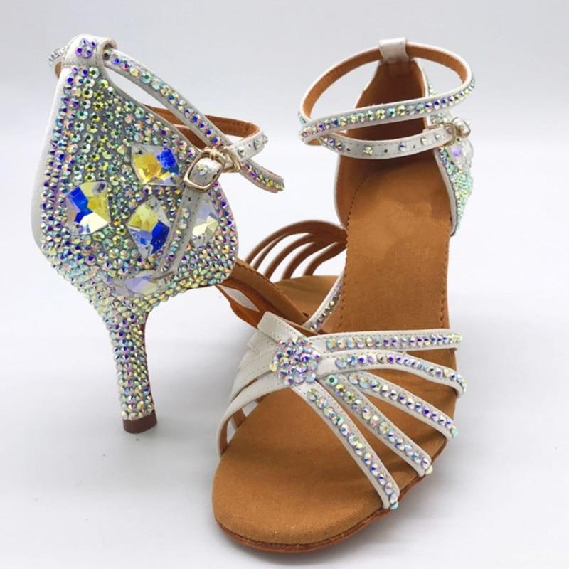Sain Upper Professional Dancing Shoes Ballroom Latin Dancing Shoes Rhinestone Salsa Dance Shoes