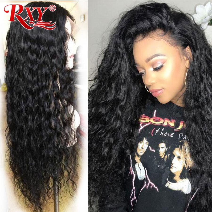 RXY pelucas de encaje Frontal de cabello humano 360 peluca Frontal de encaje onda de agua 13x6 peluca Frontal de encaje M pelucas humanas Remy brasileñas para mujeres negras